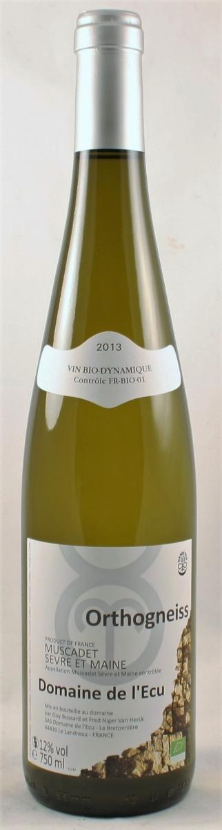 Witte wijn: Domaine de L'Ecu, Muscadet Orthogneiss 2013