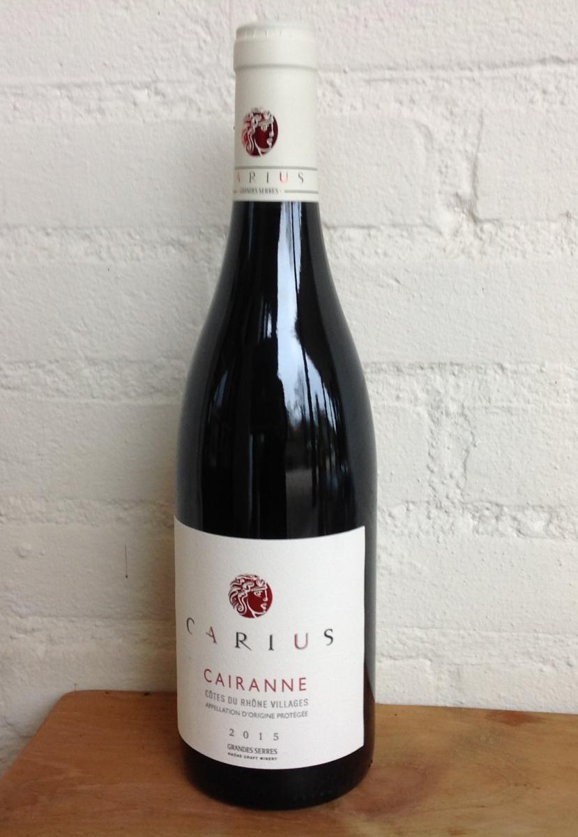 Rode wijn: Grandes Serres Cairanne Côtes du Rhône Villages 2015
