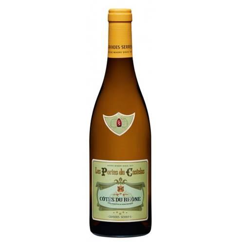 Witte wijn: Les Portes du Castelas Côtes du Rhône Blanc 2016