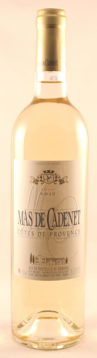 Witte wijn: Mas de Cadenet blanc 2016