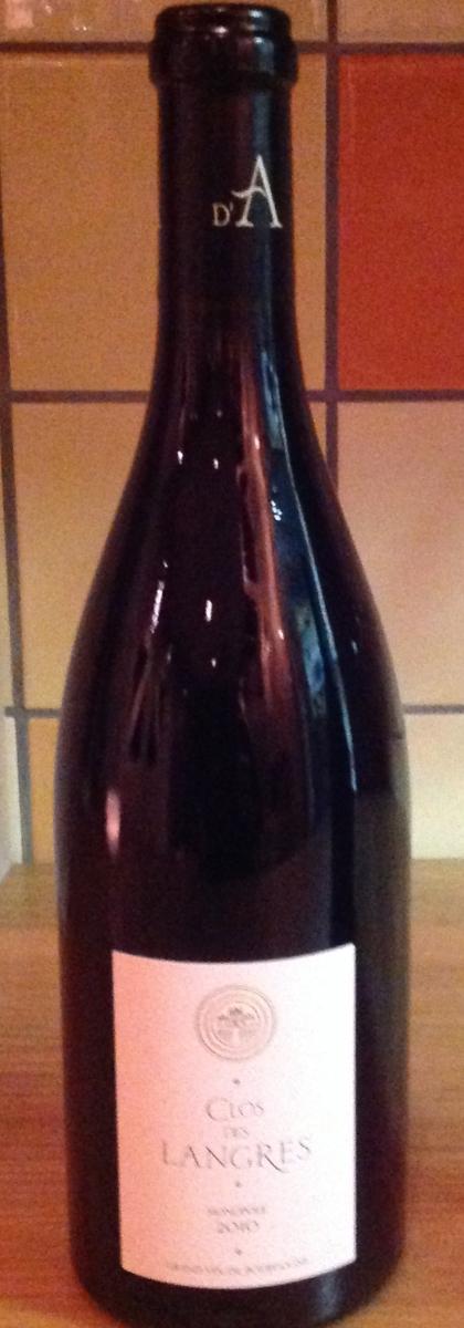 Rode wijn: Ardhuy Clos des Langres Monopole Rouge 2010